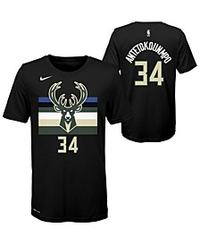Milwaukee Bucks Youth Statement Name and Number T-shirt Giannis Antetokounmpo