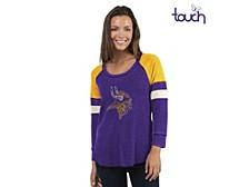 Minnesota Vikings Women's Distinct Snap Thermal T-Shirt