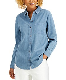 Plus Size Button-Front Top, Created for Macy's