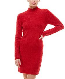 Juniors' Fuzzy Bodycon Sweater Dress