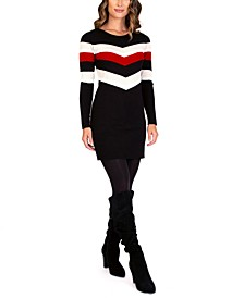 Juniors' Long-Sleeve Sweater Dress