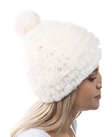 Women's Faux Fur Pom Hat