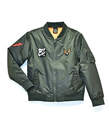 Big Boys Padded Flight Jacket with Patches, Created For Macy's