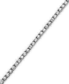 Sterling Silver White Sapphire Tennis Bracelet (4-3/4 ct. t.w.)