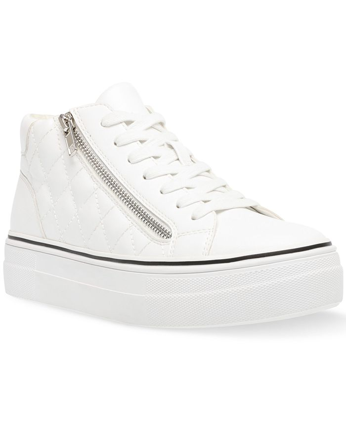 Steve Madden - Women's Gryphon-Q Flatform Quilted High-Top Sneakers