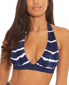 Iconic Tie-Dyed Halter Bikini Top