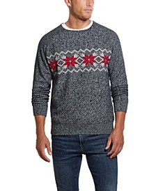 Men's Crew Neck Snowflake Sweater