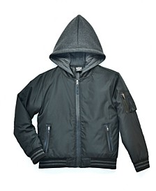 Big Boys Blaze Padded Bomber Jacket with Hood, Created For Macy's