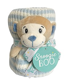 "Snoogie Boo Baby Premium Soft Knit Blanket and Toy Rattle Set, 40"" x 30"""