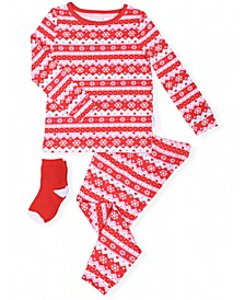 Toddler Girls 2-Piece Fair Isle Pajama Sock Set