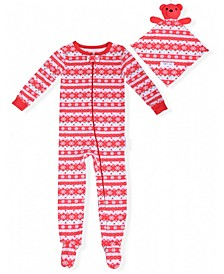 Baby Girls Fair Isle Coverall with Blankie Baby