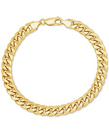 "Miami Cuban Link 7-1/2"" Chain Bracelet in 10k Gold"