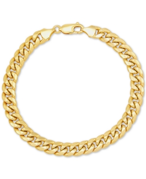 """Miami Cuban Link 7-1/2"""" Chain Bracelet in 10k Gold"""