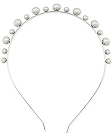 Cultured Freshwater Button Pearl (6-1/2-10mm) Headband in Sterling Silver