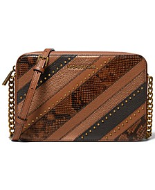 Jet Set Large East West Leather Crossbody