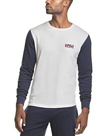 폴로 랄프로렌 파자마 셔츠 Polo Ralph Lauren Mens Long-Sleeve Waffle-Knit Pajama Shirt