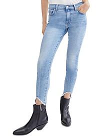Ankle Skinny Wave Hem Jeans