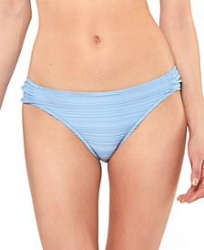 Side-Shirred Hipster Bikini Bottoms
