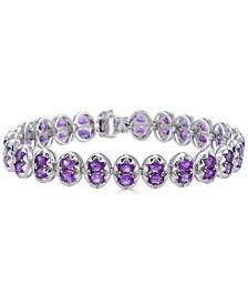 Amethyst Oval Link Bracelet (8-1/3 ct. t.w.) in Sterling Silver (Also in Multi-Stone)