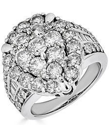 Diamond Teardrop Cluster Ring (4 ct. t.w.) in 14k White Gold