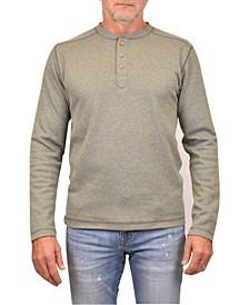 Men's Rib Heathered Henley T-shirt