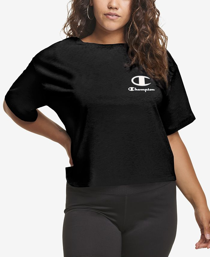 Champion - Plus Size Cropped Logo T-Shirt