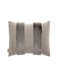 "Demi Hug 14"" x 30"" Faux Fur Stripe Decorative Pillow"