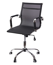 Mesh Swivel Office Chair with Adjustable Height and Casters
