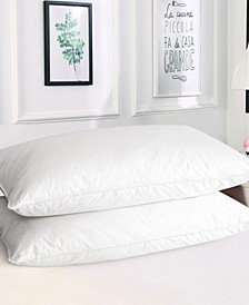King Down Feather Bed Pillows, 2 Pack