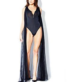 Rapture Mesh Long Ankle Length Robe