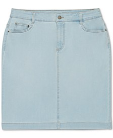 Boca Wash Jean Skirt, Created for Macy's
