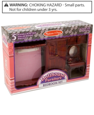 Melissa and Doug Kids Toys, Dollhouse Bedroom Furniture