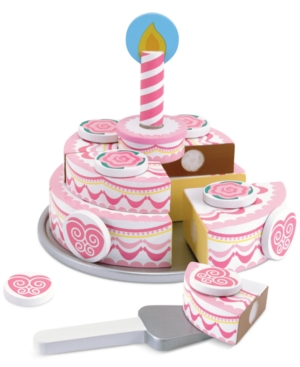 Melissa and Doug Kids Toy TripleLayer Party Cake
