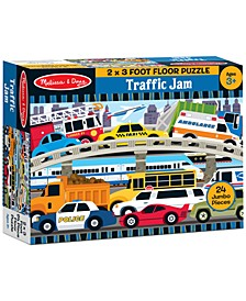 Kids Toy, Traffic Jam 24-Piece Floor Puzzle