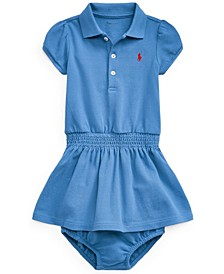 Ralph Lauren Baby Girls Polo Dress Bloomer
