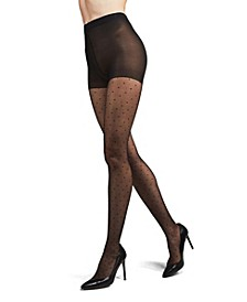 Women's Petite Point Fashion Sheer Tights