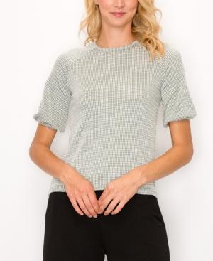 1804 Women's Jacquard Knit Button Back Top