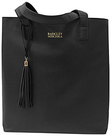 Receive a Free Badgley Mischka Tote with any large spray or 3pc gift set purchase from Badgley Miscka Fragrance Collection