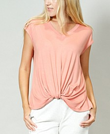 Women's V-Neck Twist Front T-shirt