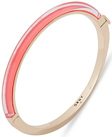 Gold-Tone & Colored Inlay Bangle Bracelet