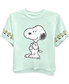 Juniors' Peanuts Snoopy & Woodstock Graphic T-Shirt