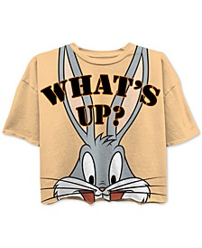 Juniors' Bugs Bunny Cropped Graphic T-Shirt