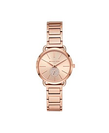 Women's Portia Rose Gold-Tone Stainless Steel Bracelet Watch 32mm