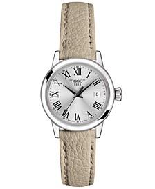 Women's Swiss Classic Dream Gray Leather Strap Watch 28mm