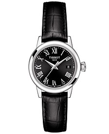 Women's Swiss Classic Dream Black Leather Strap Watch 28mm