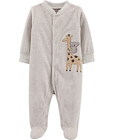 Carters Baby Girl Giraffe Snap-Up Fleece Sleep & Play