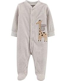 Carters Baby Girl Giraffe Snap-Up Fleece Sleep & Play