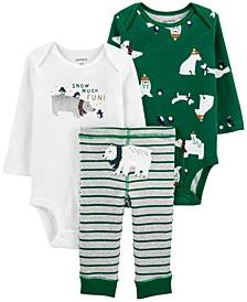 Carters Baby Boy 3-Piece Polar Bear Little Character Set