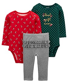 Carters Baby Girl 3-Piece Best Gift Ever Little Character Set