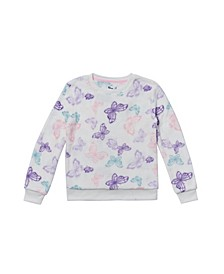 Big Girls Long Sleeve All Over Print Pullover